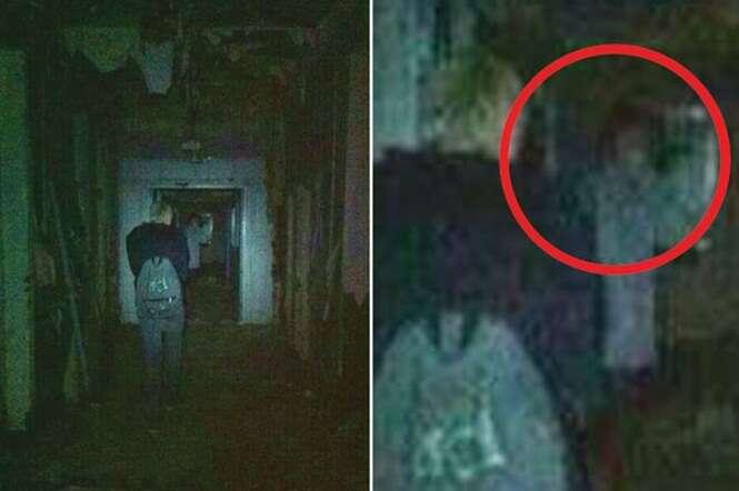 Grupo de jovens fotografa fantasma dentro de hospital psiquiátrico abandonado