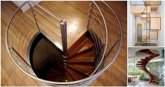 Escadas bonitas para sua casa que vão fazer você economizar espaço