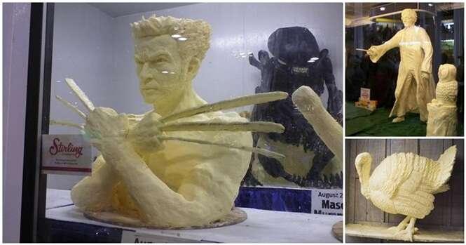 Esculturas incríveis feitas com manteiga