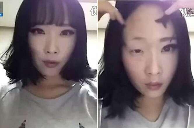 Vídeo se torna viral ao mostrar asiática sofrendo transformação após remover maquiagem