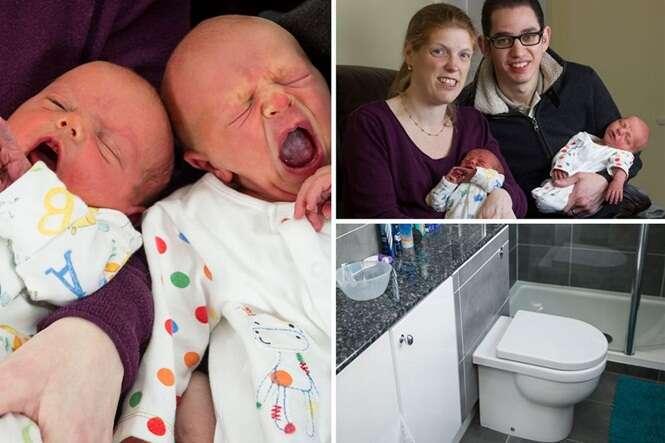Mulher com paralisia cerebral vai ao banheiro e acaba dando à luz bebês gêmeos
