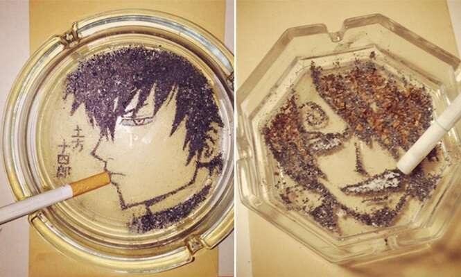 Artista cria obras incríveis com cinzas de cigarro