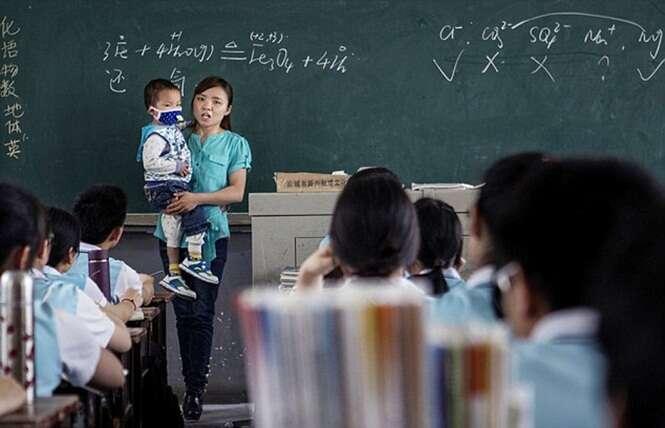School Teacher Brings Dying Son to Class