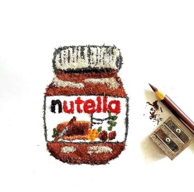 Artista cria incríveis obras usando raspas de lápis apontados