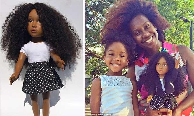 Mãe cria boneca de pele negra para fazer com que filhas se sintam valorizadas