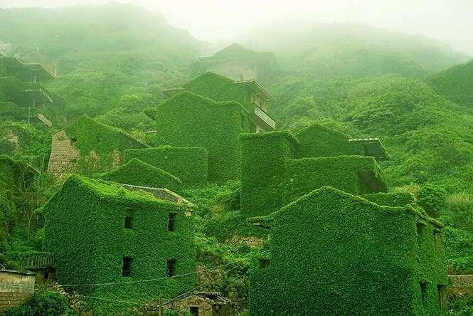 Vila engolida pela natureza