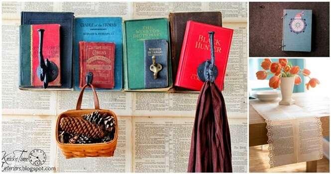 Maneiras de reaproveitar livros na decoração da casa