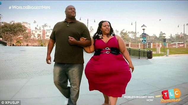 Mulher de 190 quilos com maior quadril do mundo afirma que não precisa emagrecer