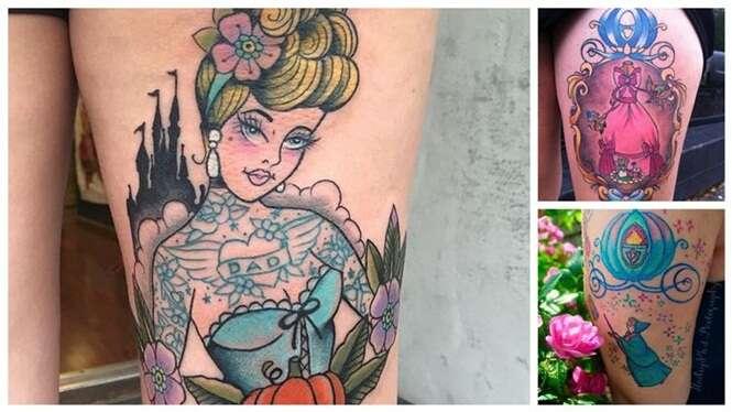 Tatuagens inspiradas na Cinderela