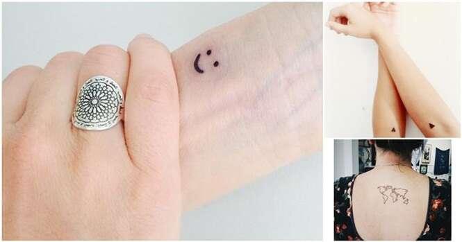 Tatuagens minúsculas e perfeitas que você vai querer fazer