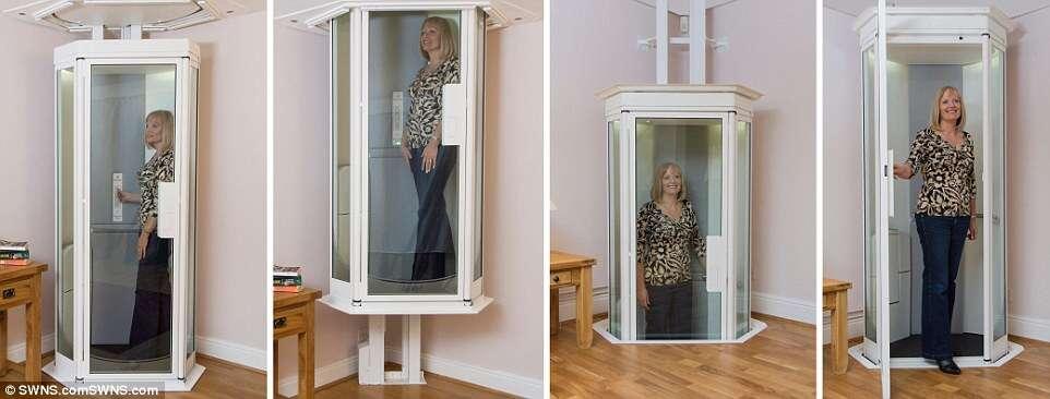 Um elevador dentro de casa: é tudo o que você precisava
