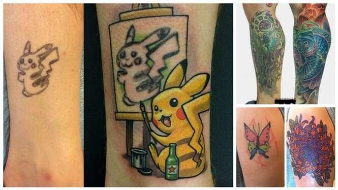Tatuagens mal feitas que foram salvas por bons tatuadores