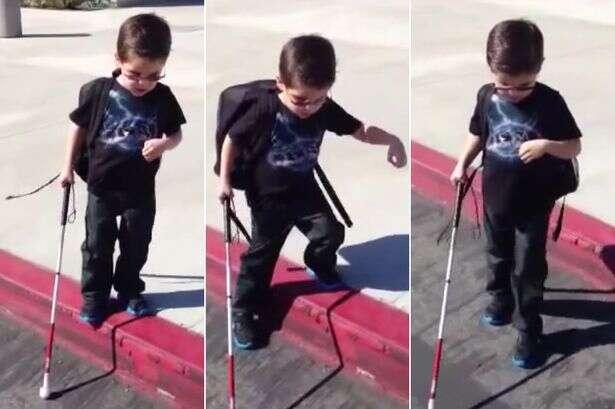 Vídeo comovente mostra momento em que menino cego dá seus primeiros passos sozinho