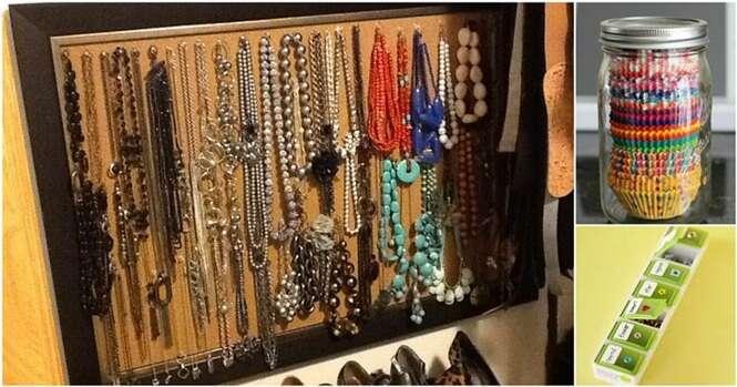 Ideias criativas para armazenar pequenos itens