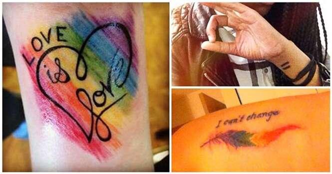 Tatuagens que demonstram o orgulho LGBT