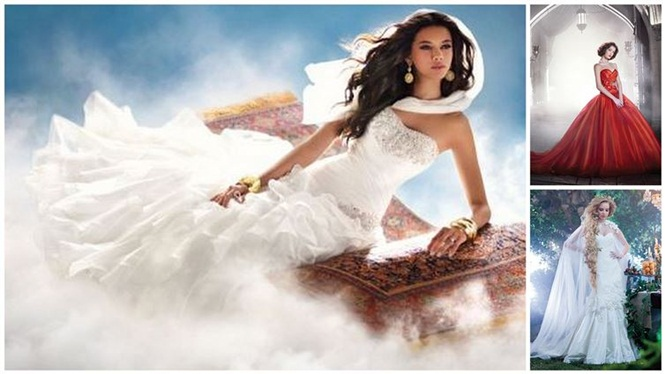 Vestidos de casamento dignos de uma princesa da Disney