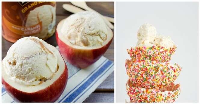 Tigelas comestíveis para servir sorvetes e outros alimentos às suas visitas