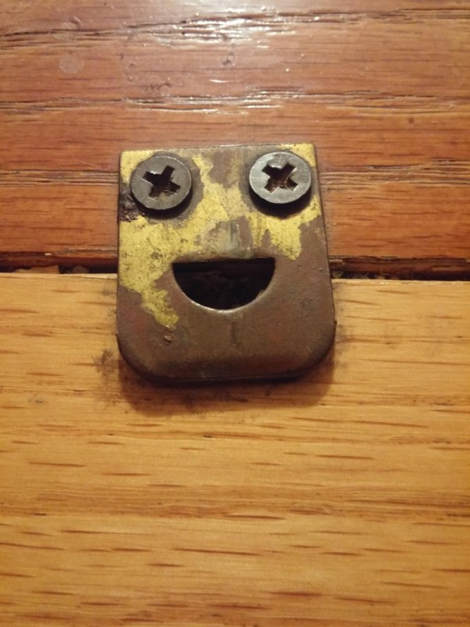 Objetos que estão sorrindo para você