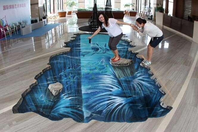 Artes de rua tridimensionais impressionantes