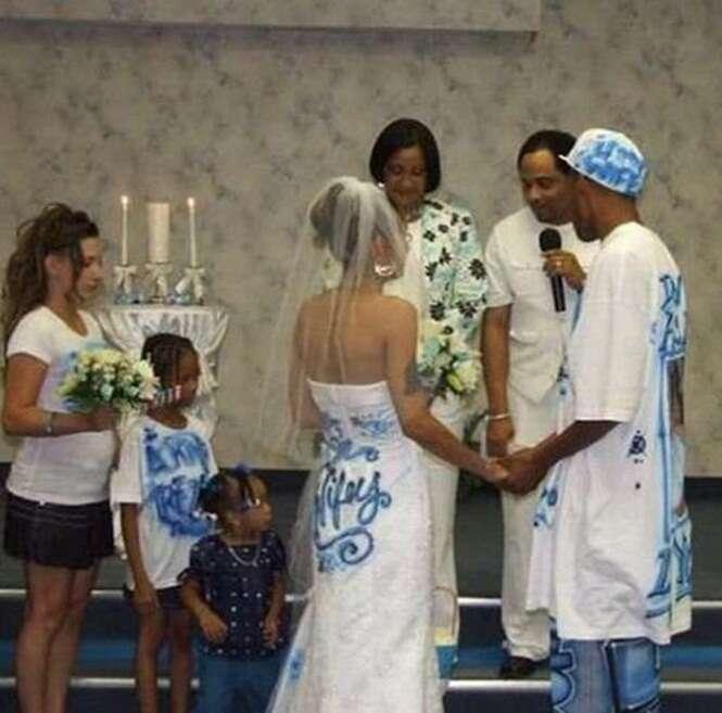 Os mais estranhos vestidos de casamento
