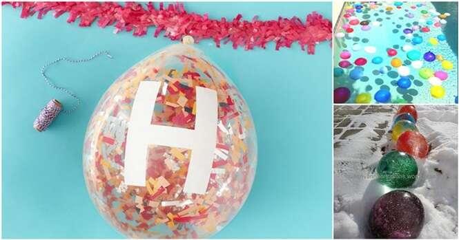 Maneiras criativas de usar balões de festa