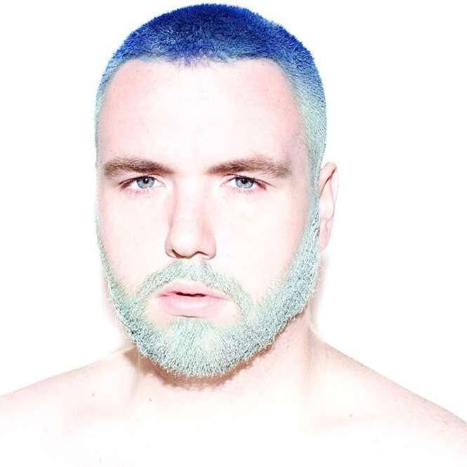 Nova tendência masculina: barba e cabelo coloridos