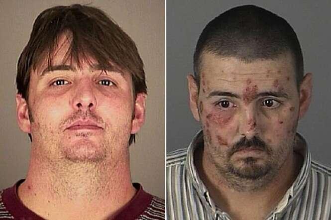 Pessoas antes e depois de se tornarem viciadas em drogas