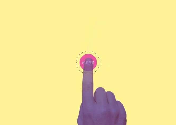 Vídeo permite que internauta participe da animação ao colocar dedo no meio da tela