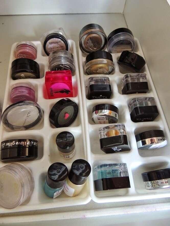 Ideias sensacionais para organizar a maquiagem em sua casa