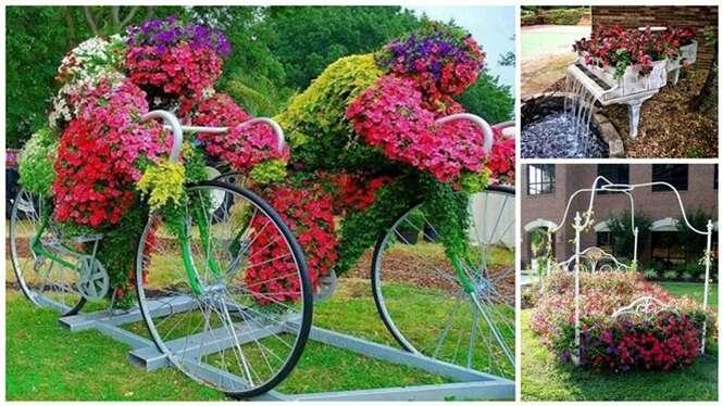Ideias de reciclagem para deixar seu jardim especial