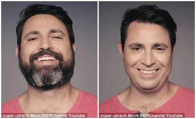 Esposa tem reação incrível ao ver marido pela primeira vez sem barba
