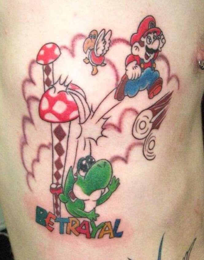 Tatuagens inspiradas em games clássicos
