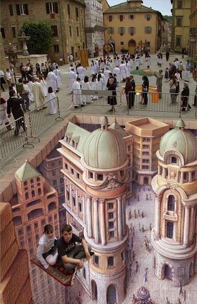 Pinturas tridimensionais que vão te impressionar