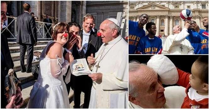 Fotos que mostram como o Papa Francisco é bem humorado