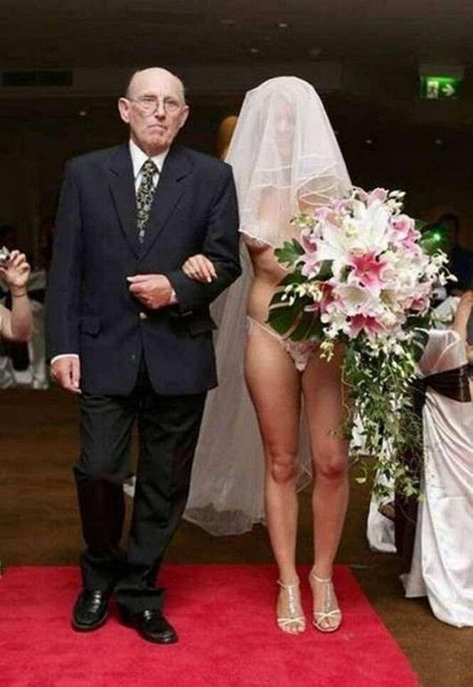 Fotos estranhas - e divertidas - de casamento