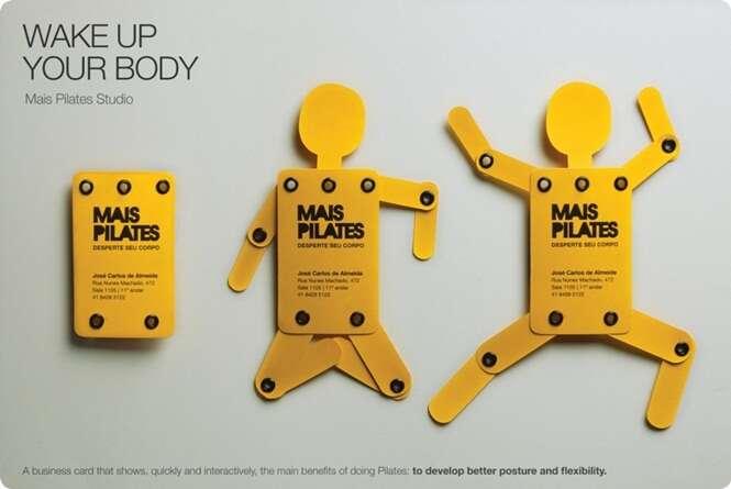 Cartões de visita criativos e com design único