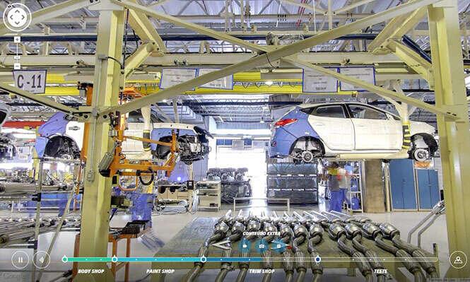 Processo de fabricação de carros