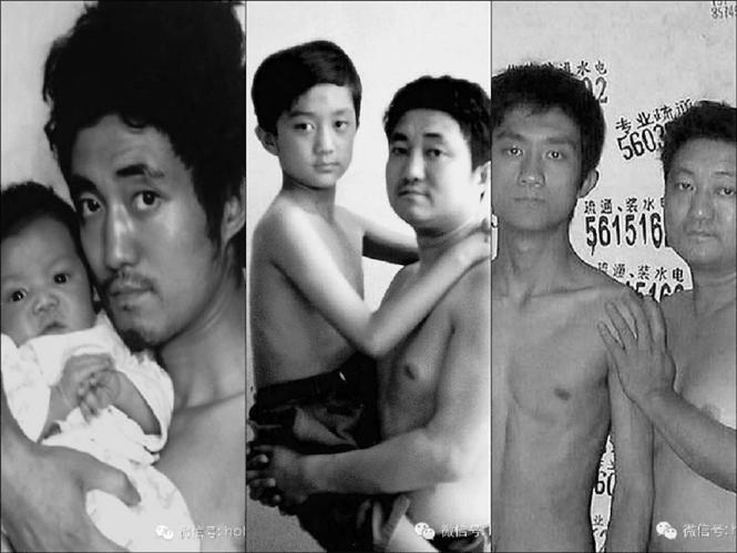 Pai se fotografa ao lado do filho durante 26 anos e consegue bela surpresa
