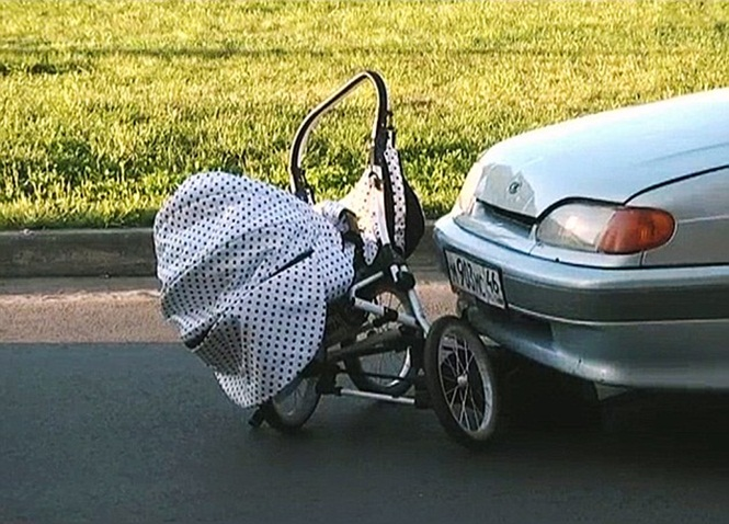 Shocking Moment Hit And Run Driver Speeds Off With Pram