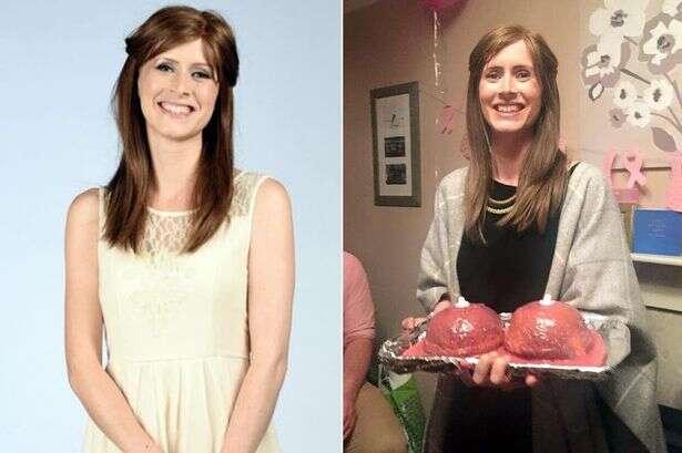 Mulher com câncer de mama faz festa de despedida para seus seios