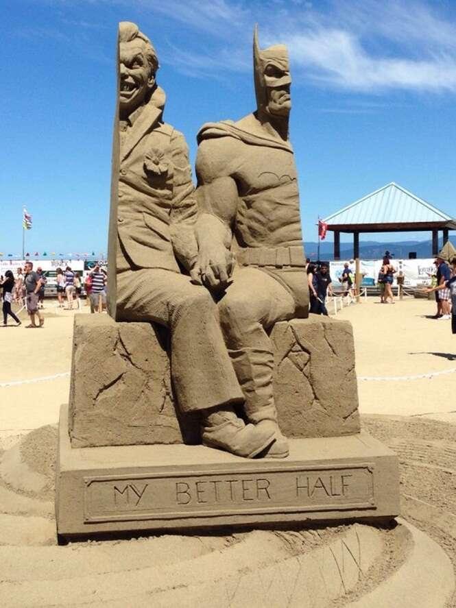 Esculturas fantásticas feitas inteiramente de areia