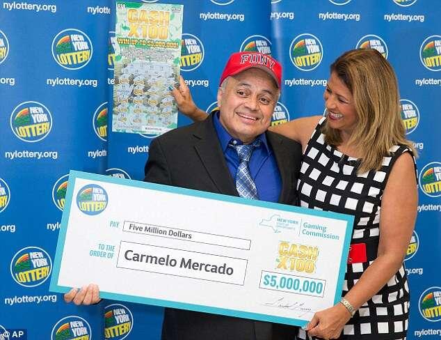 Carmelo Mercado e seu cheque milionário