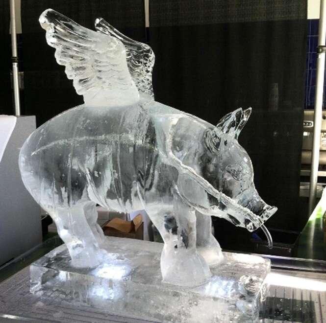 Espetaculares esculturas feitas de gelo