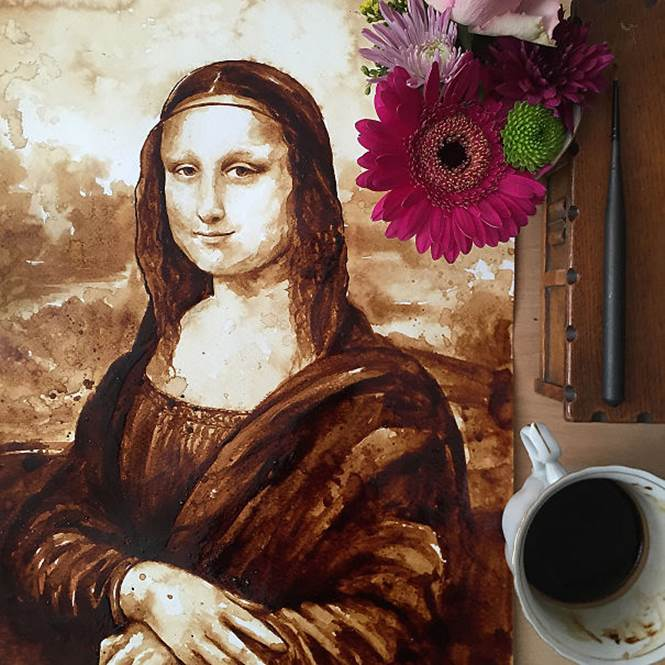 Mona Lisa de café