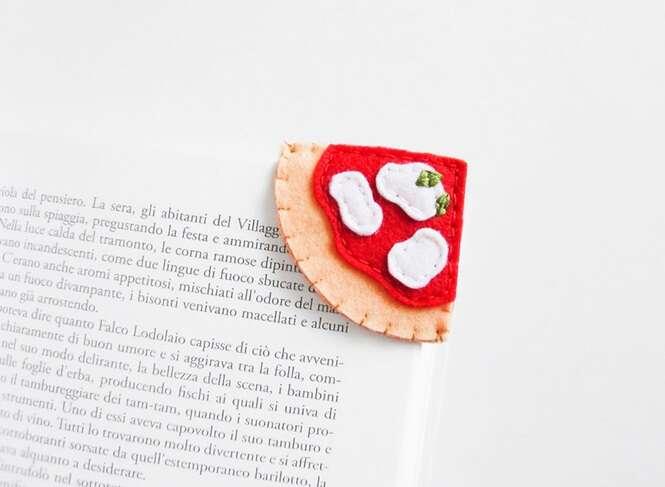 Designer cria marcadores de livros criativos em formato de alimentos
