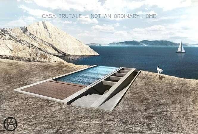 Conheça a casa subterrânea que tem vista para o mar