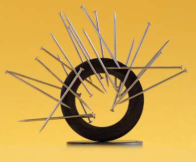 Imagens que demostram a força da atração magnética