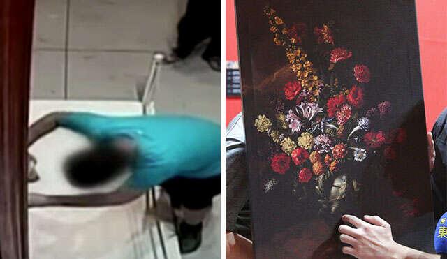 Menino de 12 anos tropeça e rasga pintura avaliada em quase 5,5 milhões de reais