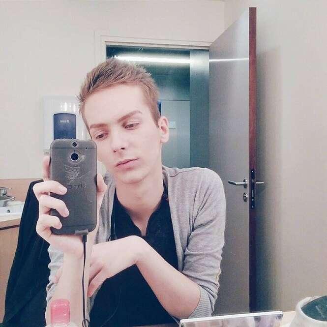 Rapaz se transforma em mulher com ajuda da maquiagem