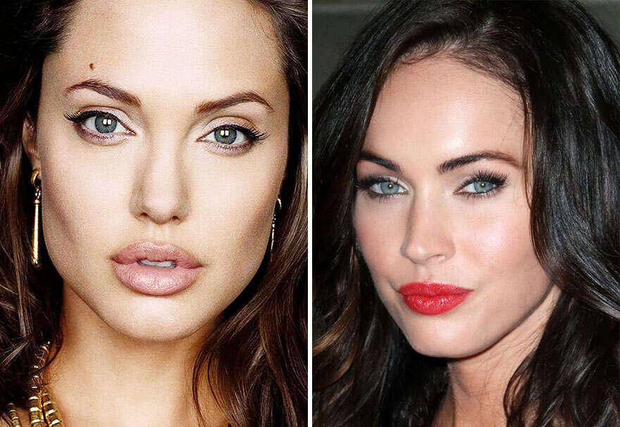 Mistura de rostos de famosos